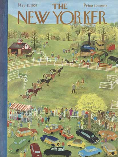 Ilonka Karasz The New Yorker 1957_05_11 Copyright | The New Yorker Graphic Art Covers 1946-1970