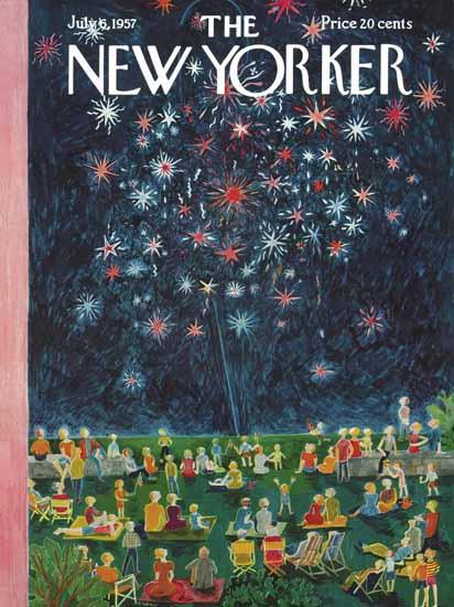Ilonka Karasz The New Yorker 1957_07_06 Copyright | The New Yorker Graphic Art Covers 1946-1970