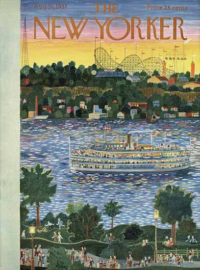 Ilonka Karasz The New Yorker 1957_08_31 Copyright | The New Yorker Graphic Art Covers 1946-1970