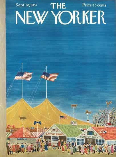 Ilonka Karasz The New Yorker 1957_09_28 Copyright | The New Yorker Graphic Art Covers 1946-1970