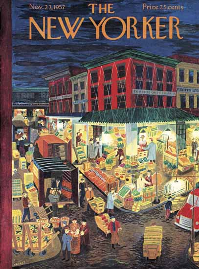 Ilonka Karasz The New Yorker 1957_11_23 Copyright | The New Yorker Graphic Art Covers 1946-1970