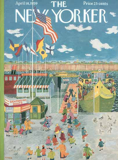 Ilonka Karasz The New Yorker 1959_04_18 Copyright | The New Yorker Graphic Art Covers 1946-1970