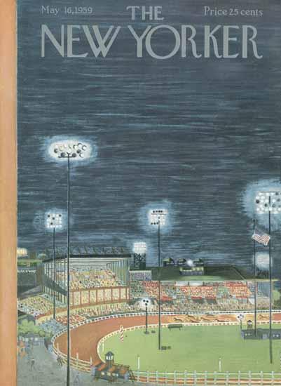 Ilonka Karasz The New Yorker 1959_05_16 Copyright | The New Yorker Graphic Art Covers 1946-1970