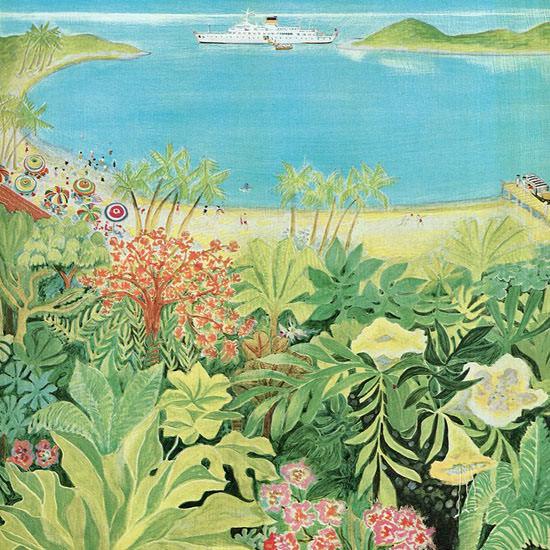 Ilonka Karasz The New Yorker 1962_02_17 Copyright crop | Best of Vintage Cover Art 1900-1970