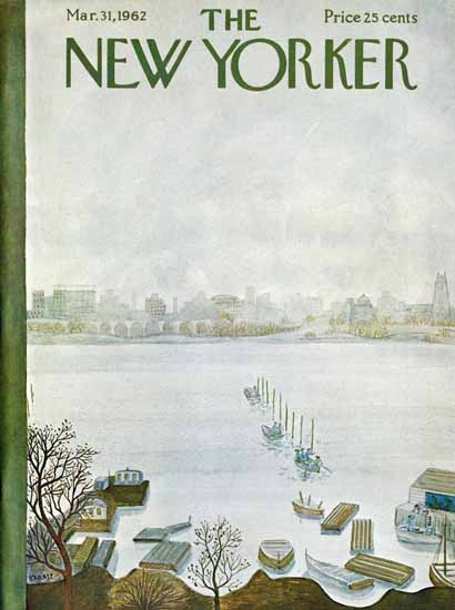 Ilonka Karasz The New Yorker 1962_03_31 Copyright | The New Yorker Graphic Art Covers 1946-1970