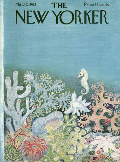 Ilonka Karasz The New Yorker 1963_03_16 Copyright | The New Yorker Graphic Art Covers 1946-1970