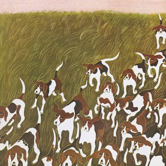 Ilonka Karasz The New Yorker 1965_11_06 Copyright crop | Best of Vintage Cover Art 1900-1970