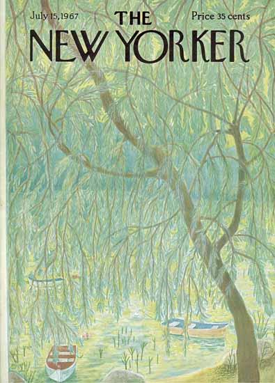 Ilonka Karasz The New Yorker 1967_07_15 Copyright | The New Yorker Graphic Art Covers 1946-1970
