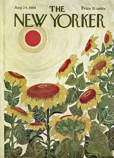 Ilonka Karasz The New Yorker 1968_08_24 Copyright   The New Yorker Graphic Art Covers 1946-1970
