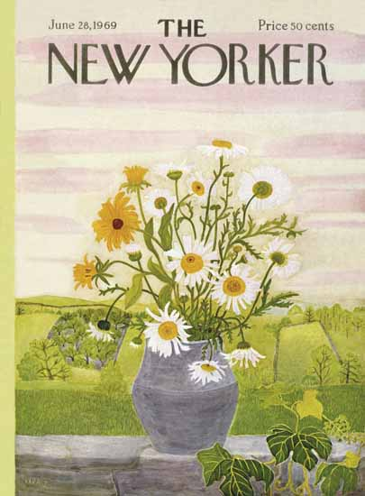 Ilonka Karasz The New Yorker 1969_06_28 Copyright | The New Yorker Graphic Art Covers 1946-1970