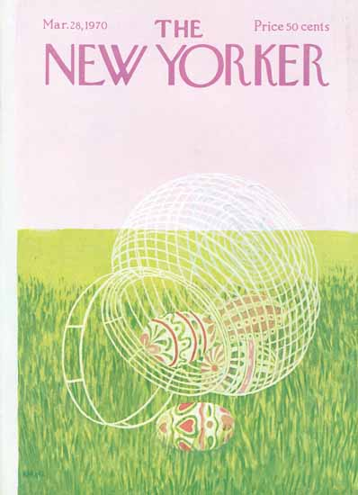 Ilonka Karasz The New Yorker 1970_03_28 Copyright | The New Yorker Graphic Art Covers 1946-1970