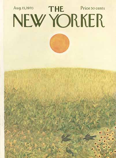 Ilonka Karasz The New Yorker 1970_08_15 Copyright | The New Yorker Graphic Art Covers 1946-1970