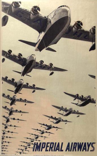 Imperial Airways 1937 | Vintage Travel Posters 1891-1970