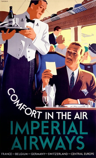 Imperial Airways Comfort France Belgium Suisse | Sex Appeal Vintage Ads and Covers 1891-1970