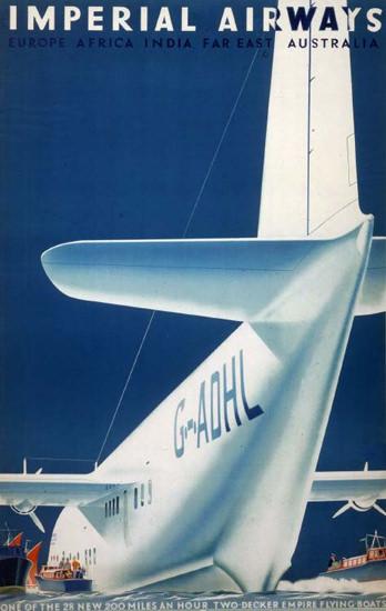 Imperial Airways Europe Africa India 1939 | Vintage Travel Posters 1891-1970