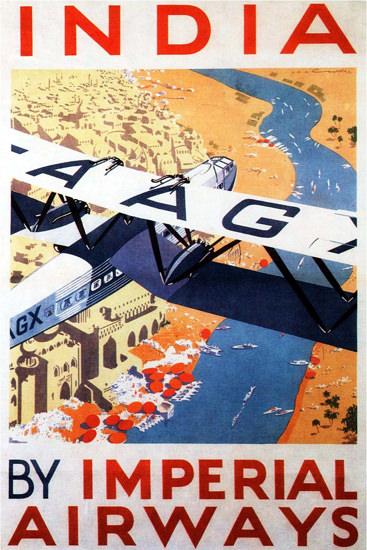 Imperial Airways India 1930   Vintage Travel Posters 1891-1970