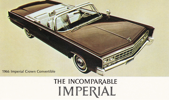 Imperial Crown Convertible 1966 | Vintage Cars 1891-1970
