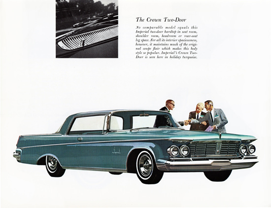 Imperial Crown Door 1963 In Holiday Turquoise | Vintage Cars 1891-1970