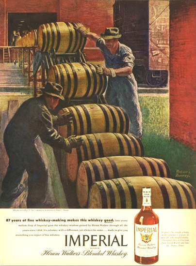 Imperial Hiram Walker Blended Whiskey 1 | Vintage Ad and Cover Art 1891-1970