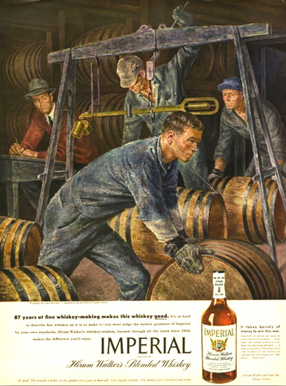 Imperial Hiram Walker Blended Whiskey 2 | Vintage Ad and Cover Art 1891-1970