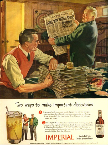 Imperial Hiram Walker Blended Whiskey 5 | Vintage Ad and Cover Art 1891-1970