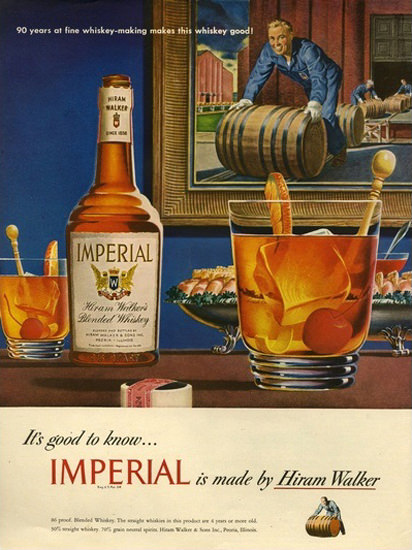 Imperial Hiram Walker Blended Whiskey 6 | Vintage Ad and Cover Art 1891-1970