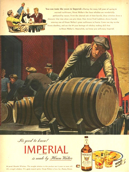 Imperial Hiram Walker Blended Whiskey 7 | Vintage Ad and Cover Art 1891-1970