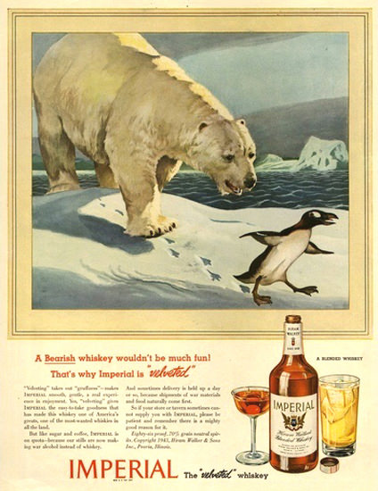 Imperial Hiram Walker Blended Whiskey 8 Baer | Vintage Ad and Cover Art 1891-1970