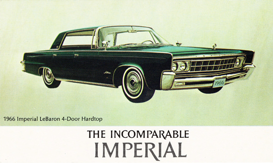 Imperial LeBaron Hardtop 1966 Green | Vintage Cars 1891-1970