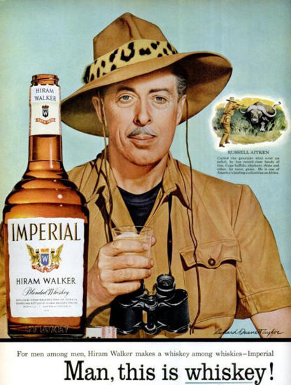 Imperial Whiskey Russell Aitken 1955 Safari | Sex Appeal Vintage Ads and Covers 1891-1970
