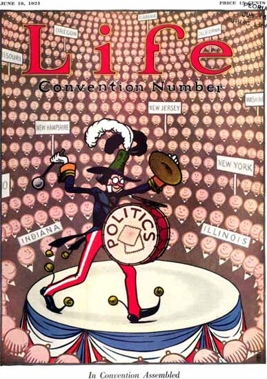 In Convention Life Humor Magazine 1924-06-19 Copyright | Life Magazine Graphic Art Covers 1891-1936
