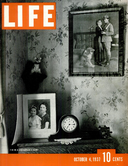 In a Legionnaires Home 4 Oct 1937 Copyright Life Magazine | Life Magazine BW Photo Covers 1936-1970