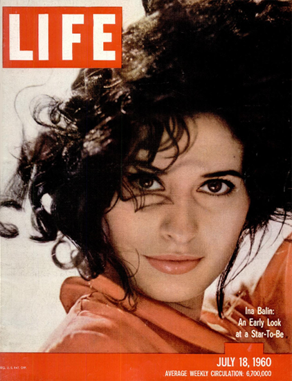 Ina Balin a Star-To-Be 18 Jul 1960 Copyright Life Magazine   Life Magazine Color Photo Covers 1937-1970