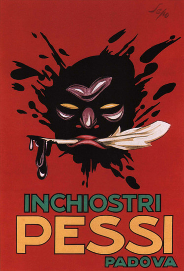 Inchiostri Pessi Padova Italy Italia | Vintage Ad and Cover Art 1891-1970