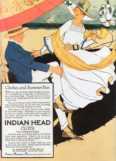 Indian Head Clothes And Summer Fun 1920 | Sex Appeal Vintage Ads and Covers 1891-1970