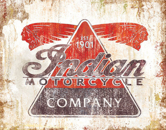 Indian Motorcycle Company Est 1901 | Vintage Travel Posters 1891-1970