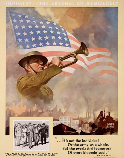 Industry The Arsenal Of Democracy | Vintage War Propaganda Posters 1891-1970