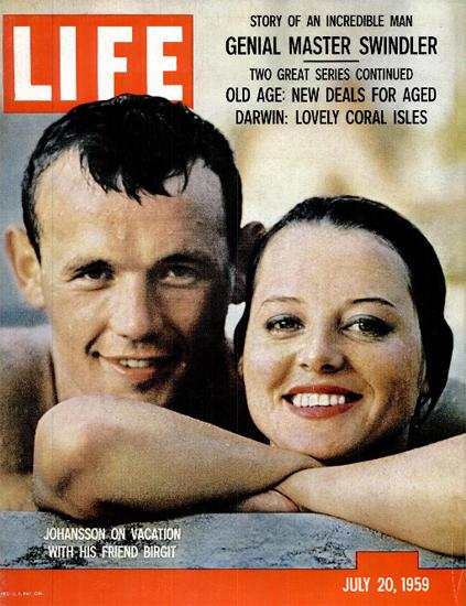 Ingemar Johansson Birgit Lundgren 20 Jul 1959 Copyright Life Magazine | Life Magazine Color Photo Covers 1937-1970