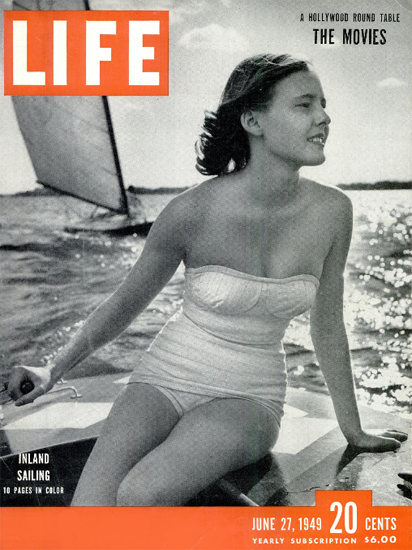 Inland Sailing in Color 27 Jun 1949 Copyright Life Magazine | Life Magazine BW Photo Covers 1936-1970