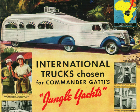 Int Trucks Jungle Yacht Commander Gatti 1939 | Vintage Cars 1891-1970