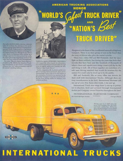 Int Trucks Worlds Safest Truck Driver 1938 | Vintage Cars 1891-1970