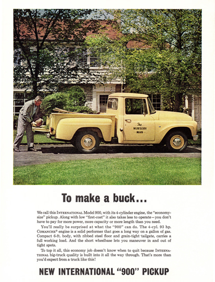 International 900 Pickup 1963 To Make A Buck | Vintage Cars 1891-1970