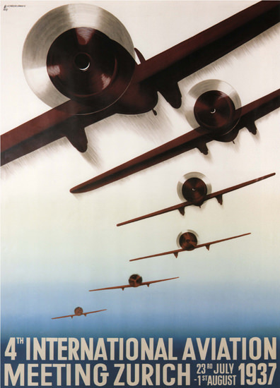 International Aviation Meeting Zurich 1937 | Vintage Ad and Cover Art 1891-1970