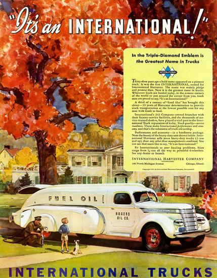 International Harvester Trucks Rogers Oli 1940   Vintage Cars 1891-1970
