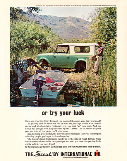 International Scout 1963 Or Try Your Luck Green | Vintage Cars 1891-1970