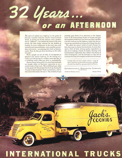 International Trucks 1938 Jacks Cookies | Vintage Cars 1891-1970