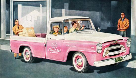 International Trucks A-100 Pickup 1957 Pink | Vintage Cars 1891-1970