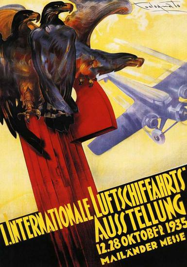 Internationale Luftschiffahrts-Aussttellung 1935 | Vintage Ad and Cover Art 1891-1970
