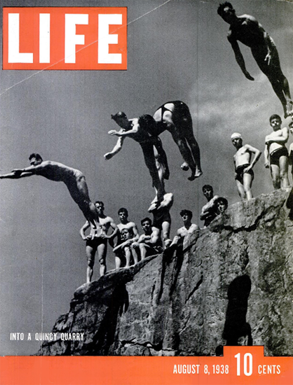 Into a Quincy Quarry 8 Aug 1938 Copyright Life Magazine | Life Magazine BW Photo Covers 1936-1970