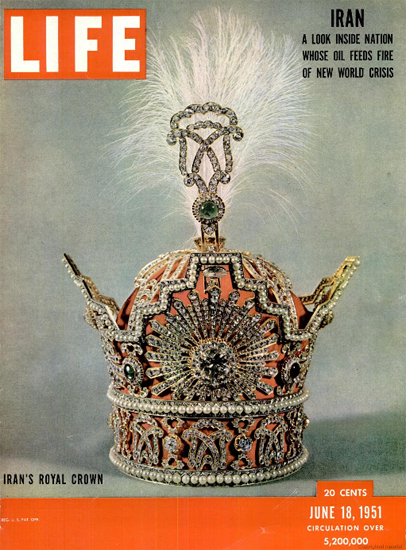 Irans Royal Crown 18 Jun 1951 Copyright Life Magazine | Life Magazine Color Photo Covers 1937-1970